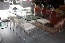 Slap-up transparent acrylic dining chair with cushion for sale