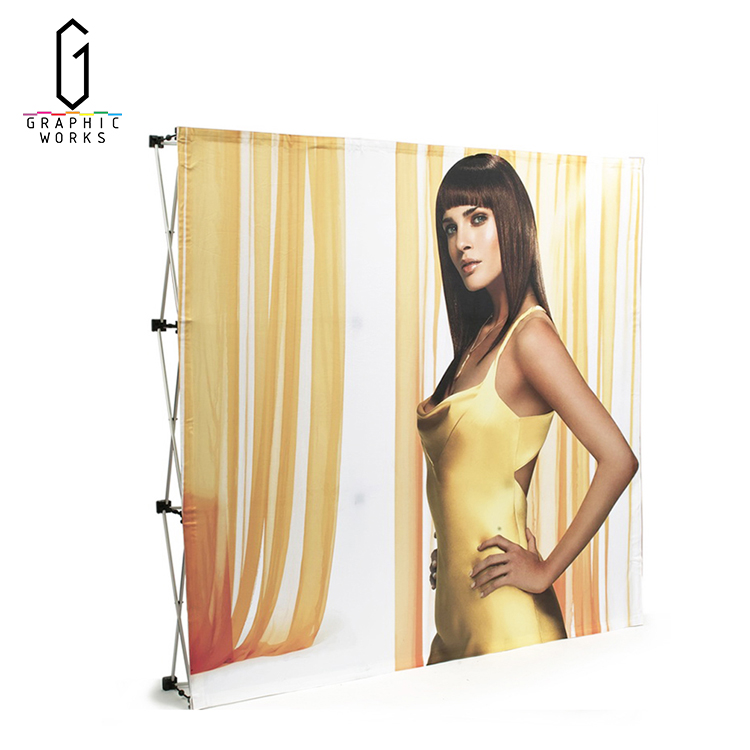Poster stands popular tension fabric wall designs pop up display banner