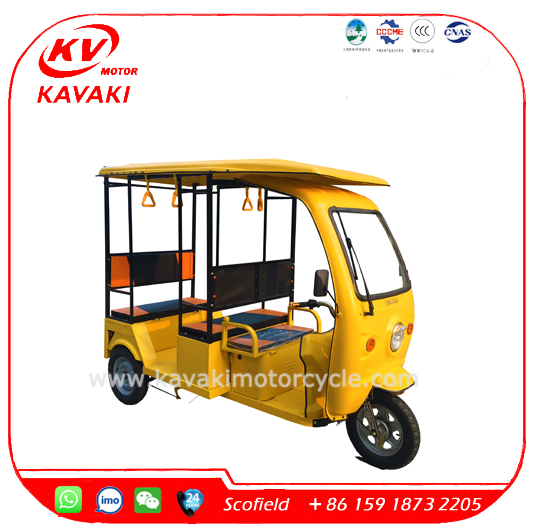 KAVAKI 900W Ape Passenger Aauto Price Image Electric Solar Tricycle