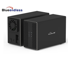 BS-DB3502A 2019 new raid 0 enclosure for 3.5 inch hard drive disk sata usb3.0 dual bay raid