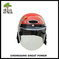 High Quality Halley Thick Red Open Face Helmet