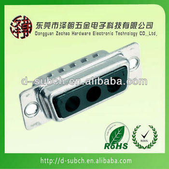 3w3 power straight D-Subminiature Connector