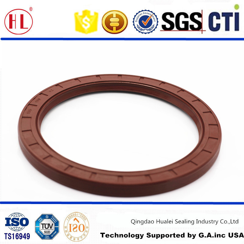 135x170x12 spring loaded NBR rubber covered double lip front wheel mechanical oil seal for Gold Prince