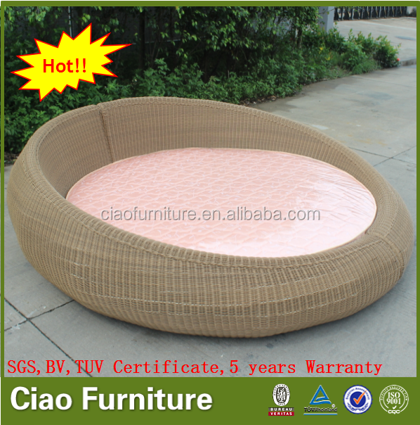 Bedroom Wicker Furniture Sofa Bed Rattan KD Big Round Bed