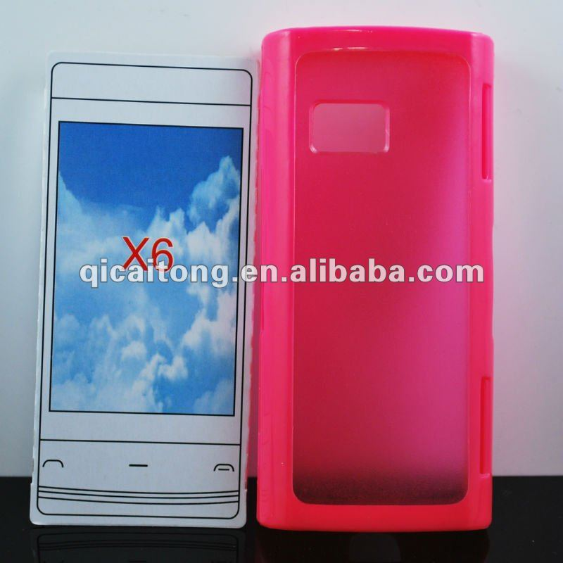 TPU+PC CASE for NOKIA X6, free sample phone case