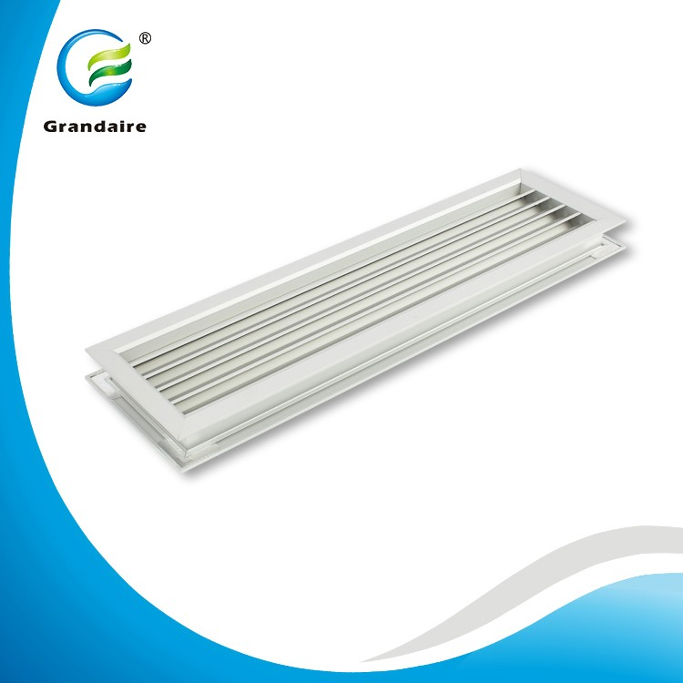 Natural Anodized Aluminum Air Transfer Louvres Door Grilles Vent