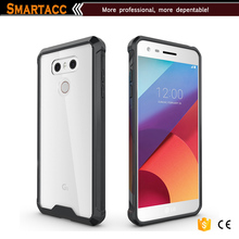 For LG G6 Case, Crystal Clear PC Back TPU Bumper Case For LG G6