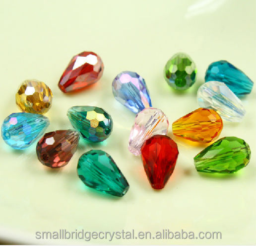 4/6/8/10mm crystal glass teardrop beads for jewelry making