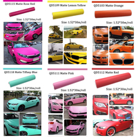 2016 New Product car protection sticker car body color film Matte Metalic Vinyl Wrap