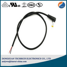 L Shape Yellow Tip AV DC Cable DVD Player 24V Heating Power Cable