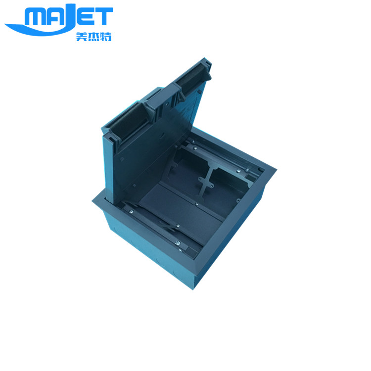 Waterproof electrical floor box plastic cover