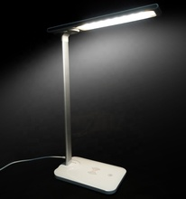 Wireless charger lighting LED study desk lamp with <strong>CE</strong>/RoHS brightness dimming touch controller