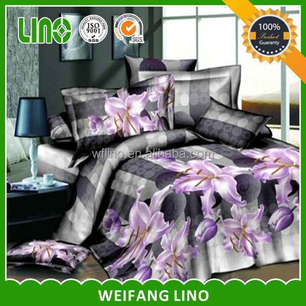 good quality wholesale reactive pure polyester bedding article