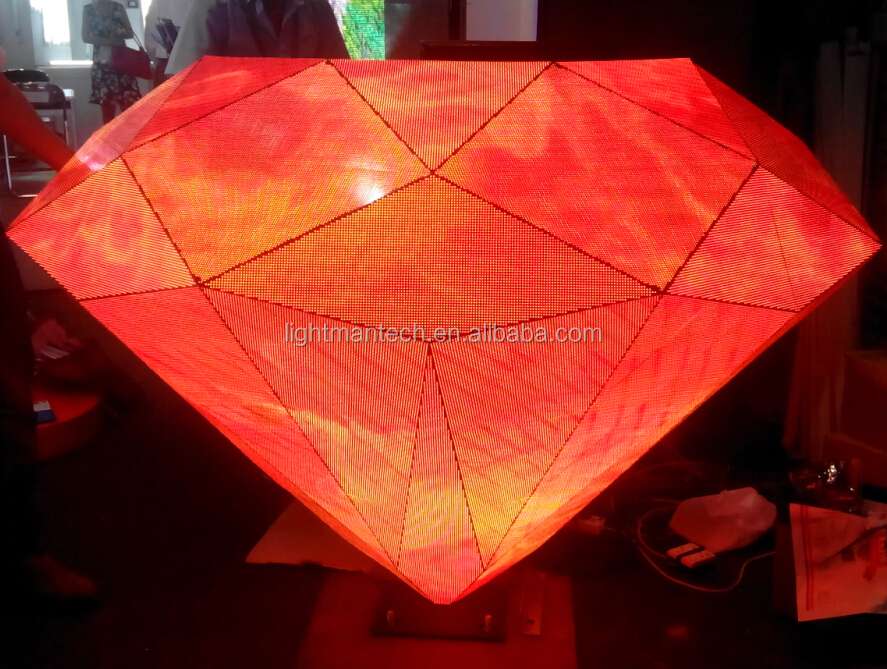 P5 Indoor Full Color LED Diamond DJ Booth Display Screen