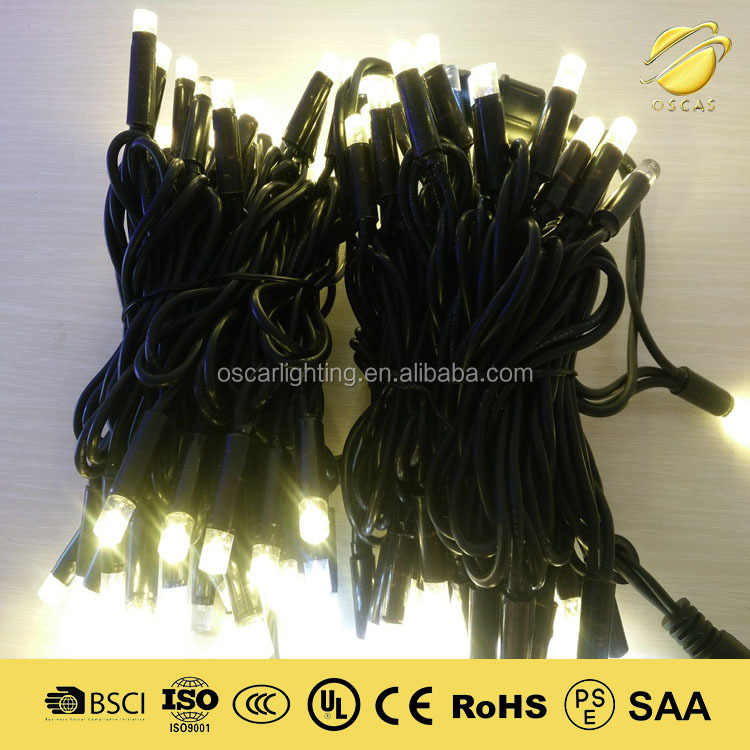 led christmas string light chain IP65 outdoor holiday lighting decorate