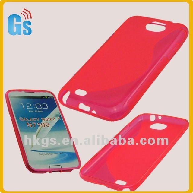 Hot-pink tpu skin for samsung galaxy note 2 II n7100 case