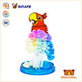 Chinese Educational Crystal Growing Toy Magic Paper Parrot