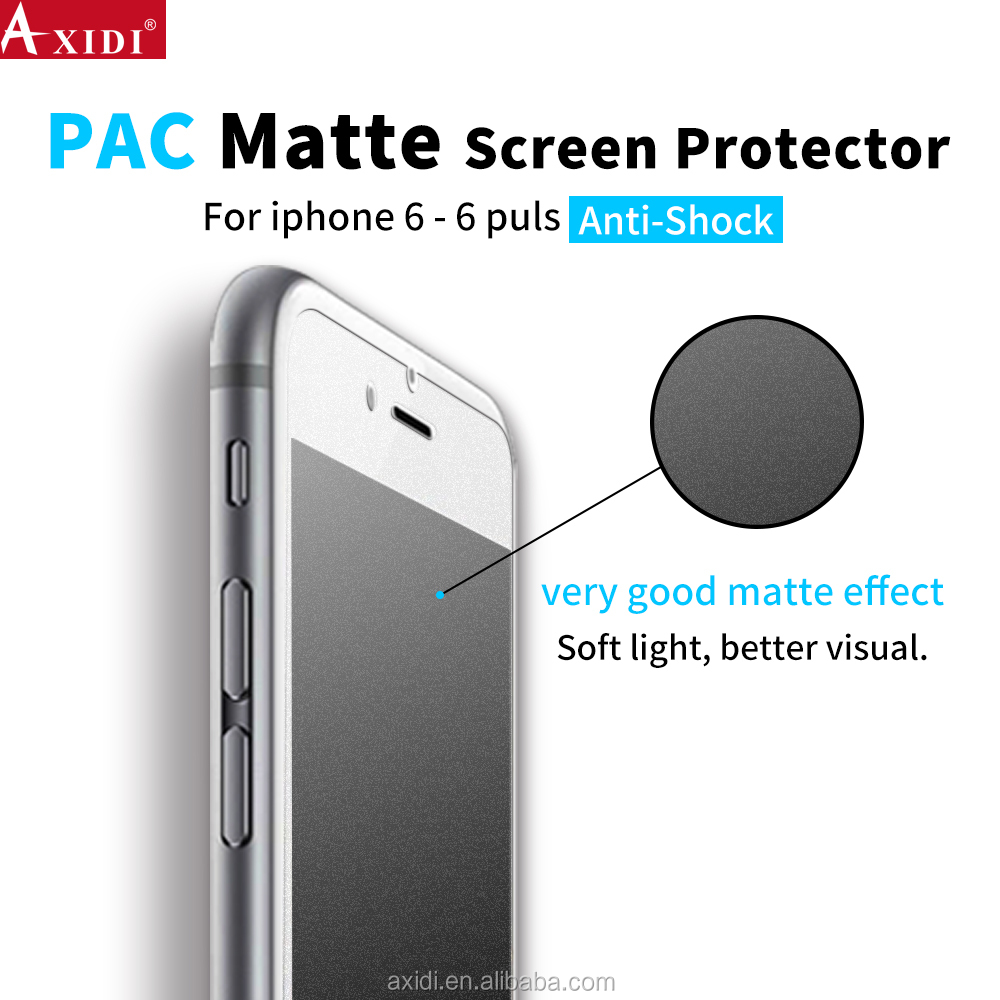 2017 newest product No bubble anti-scratch anti-broken PAC matte screen protector for lphone 6/6s/6plus