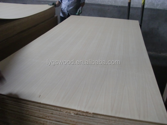 natural ash veneer fancy plywood low pirce sheet from Linyi factory