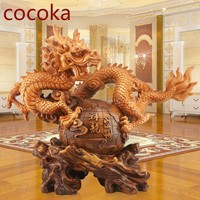 gate chinese garden Parlor wooden dragon new year gift golden western dragon