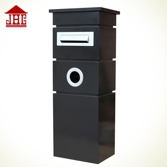 JHC-1062A outdoor newspaper letter box/ mailbox with master key/ pillar letterbox