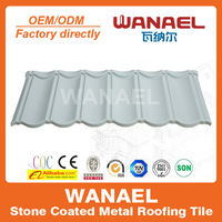 High quality wanael galvanized corrugated UPVC metal roof tiles