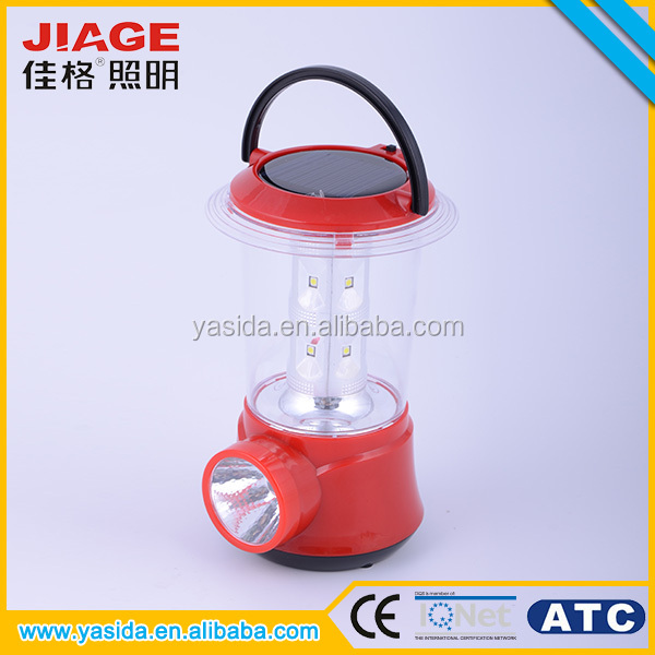 2 in 1 rechargeable led solar camping lantern
