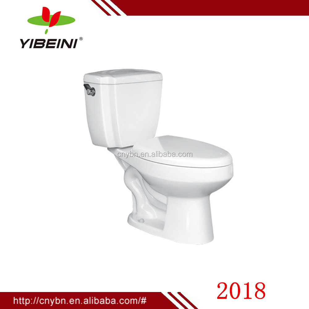 Hot sale WC single flush siphonic low price two piece toilet for bathroom