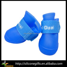 fashion waterproof rain blue silicone small dog toys shoes