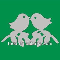 love birds place cards for wedding favor wine glass