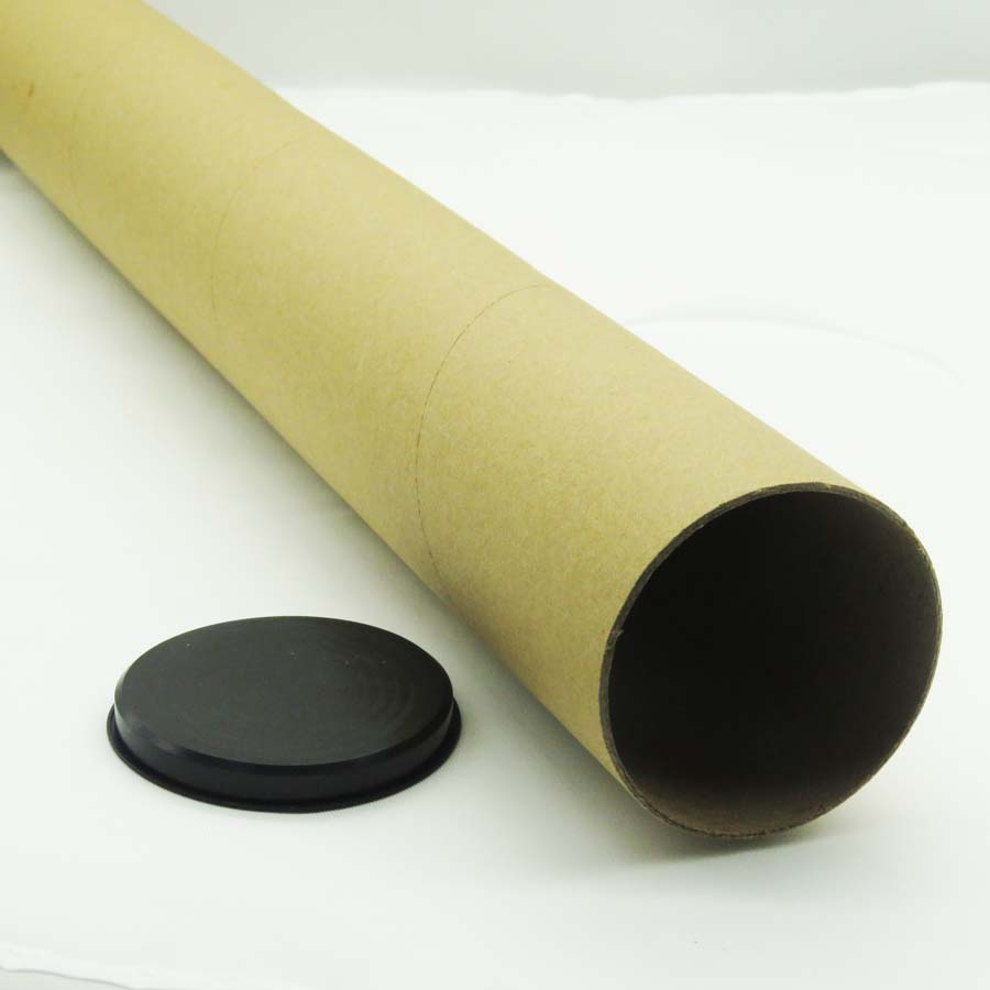 plastic caps end shipping postal mailing round kraft packaging cardboard paper <strong>tube</strong>