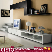 modular house plywood tv cabinet with showcase