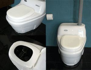 Waterless Incinerating Toilet