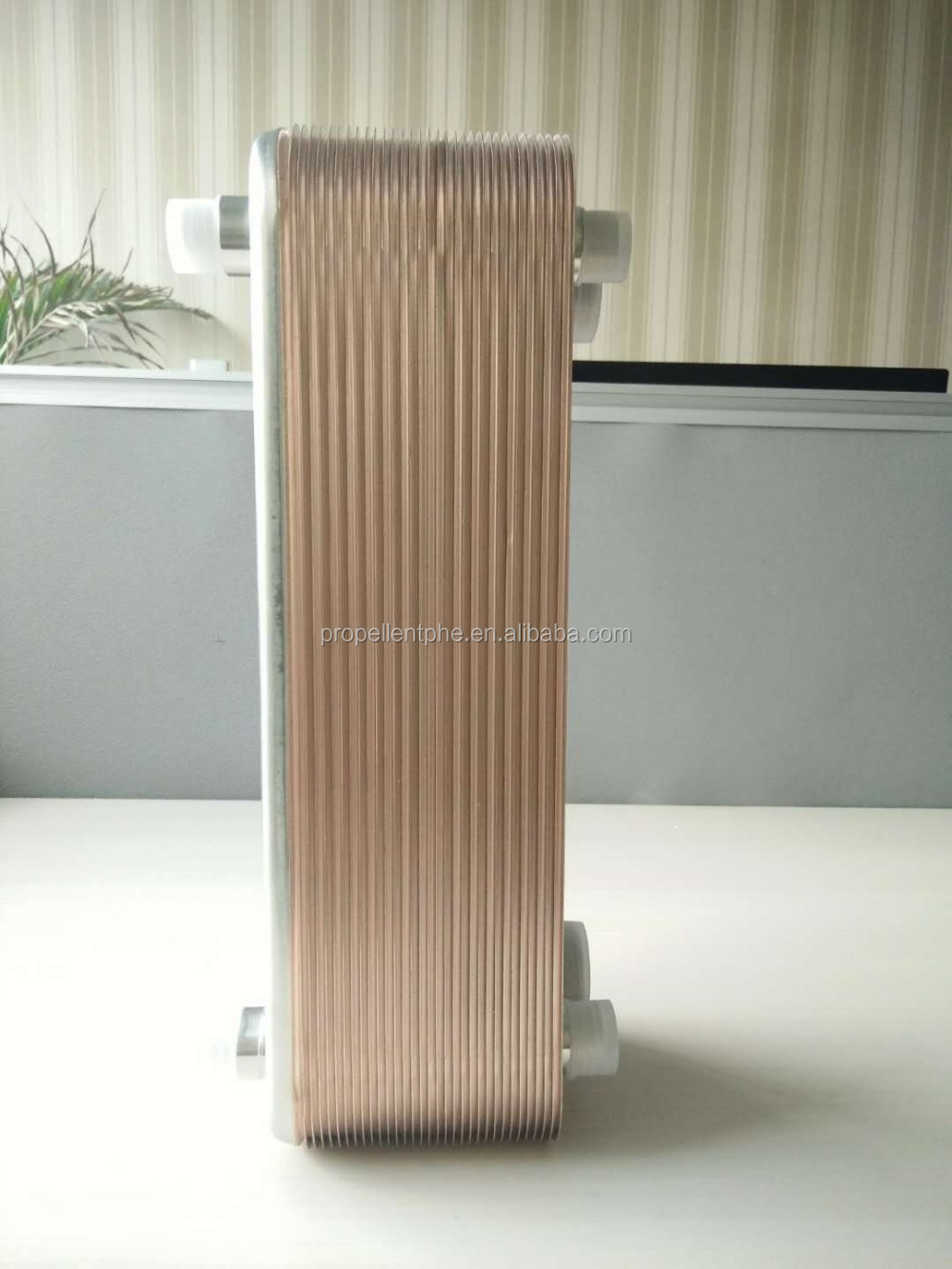 Brazed plate heat exchanger for refrigeration equipment, Brazed heat exchanger