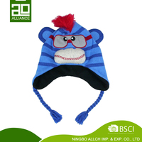 Winter Warm Plush Knitting Earflap Hat Knitted Hat