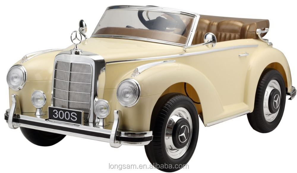 Kids car old classic mercedes benz 300s licensed ride on for Mercedes benz toddler car