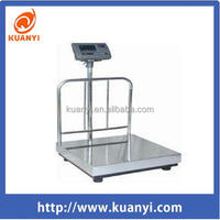 Electronic Weighing Platform Scales with Back Rail