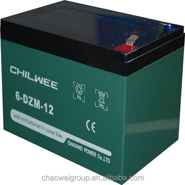 High power and high capacity Maintenance Free (MF) Battery for bicycle, 12V 12Ah