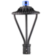 Popular DLC ETL garden lights led street post top area lamp with photocell
