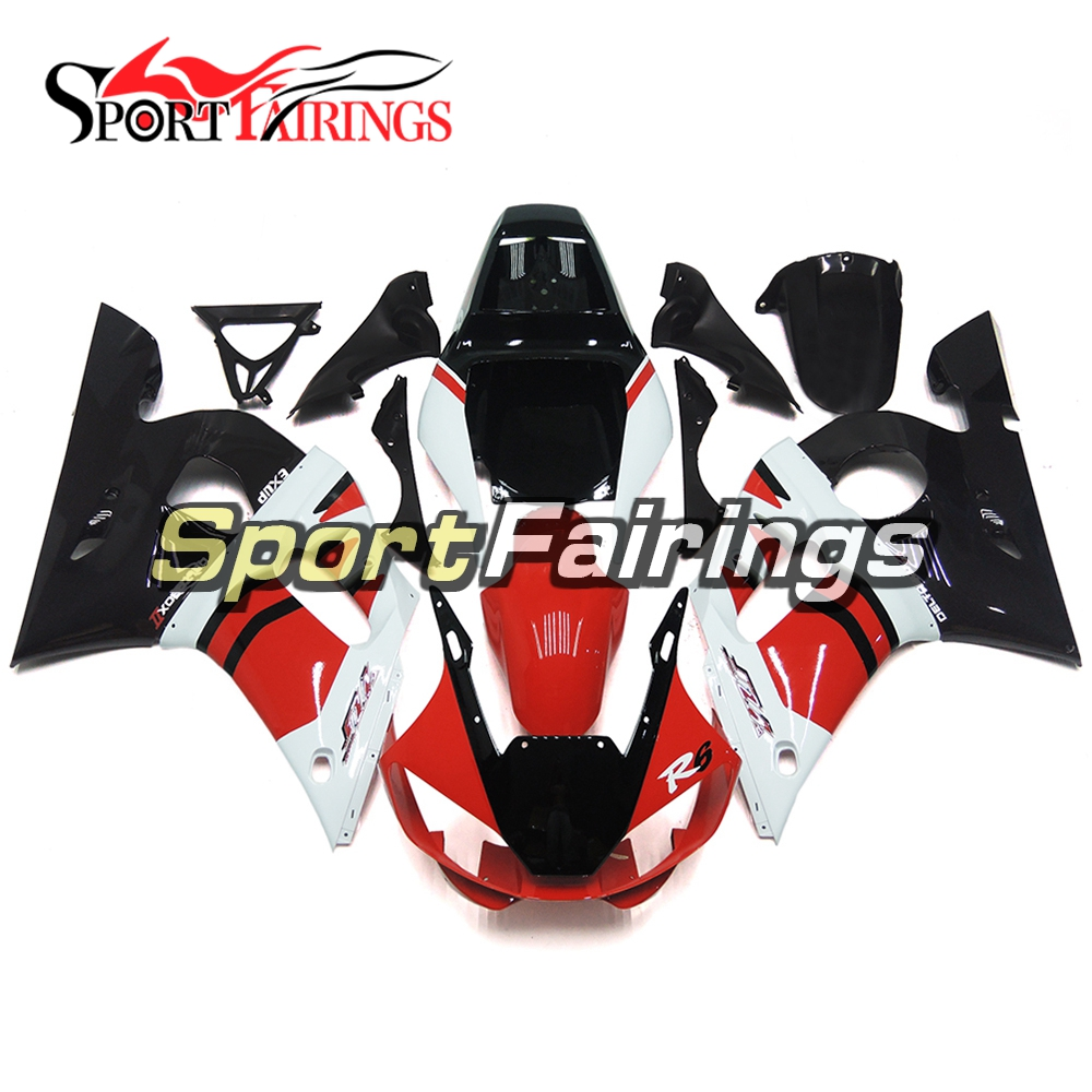 ABS Injection Full Fairings For Yamaha YZF 600 R6 98 99 00 <strong>01</strong> <strong>02</strong> YZF-R6 Plastic Motorcycle White Red Black Body Kit