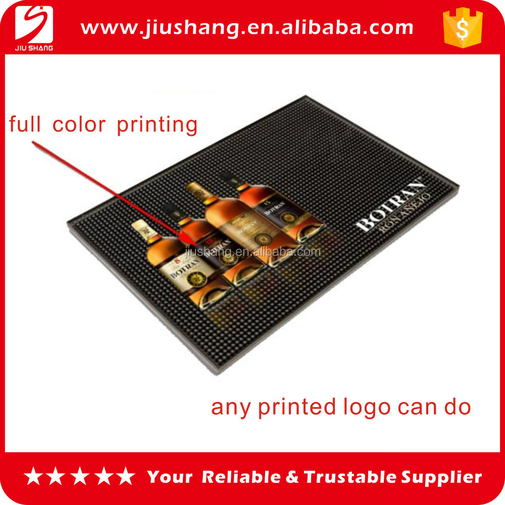 Full color printing bar mat,PVC printed bar mat,PVC bar mat