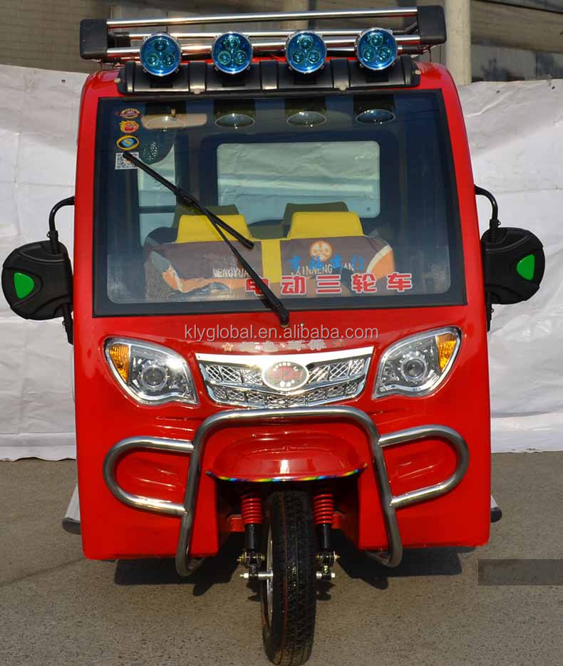 Closed cabin bajaj three wheel electric auto rickshaw price in india