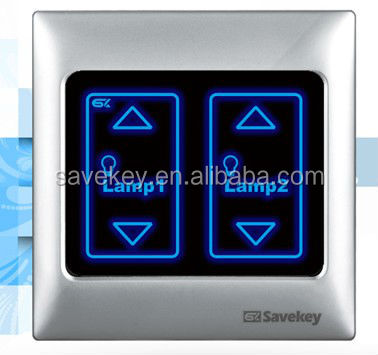 High quality LED indicator 1gang/2 gang CE/ISO9001/CQC PC/metal frame waterproof light dimmer switch