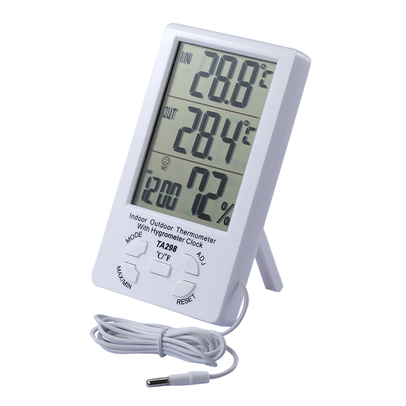 Outdoor Clock Temperature Display Digital Thermo Hygrometer Indoor ...