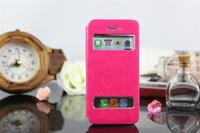 Original case for iPhone 5 Open Window Classic look PU Leather Caller ID glossy cover with favourable price