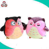 Cute and lovely Colorful soft Plush Mini birds Stuffed plush Owl Toys manufacture in china