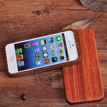 Hot Selling Walnut Wooden Mobile / Cell Phone Case / Shell / Cover for iPhone 5S Vintage Case In Amazon