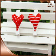 resin material heart shaped wooden clip wedding decoration