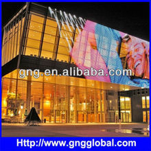 LED P25 Curtain wall outdoor full color designed / super light weight aluminum cabinet Screen