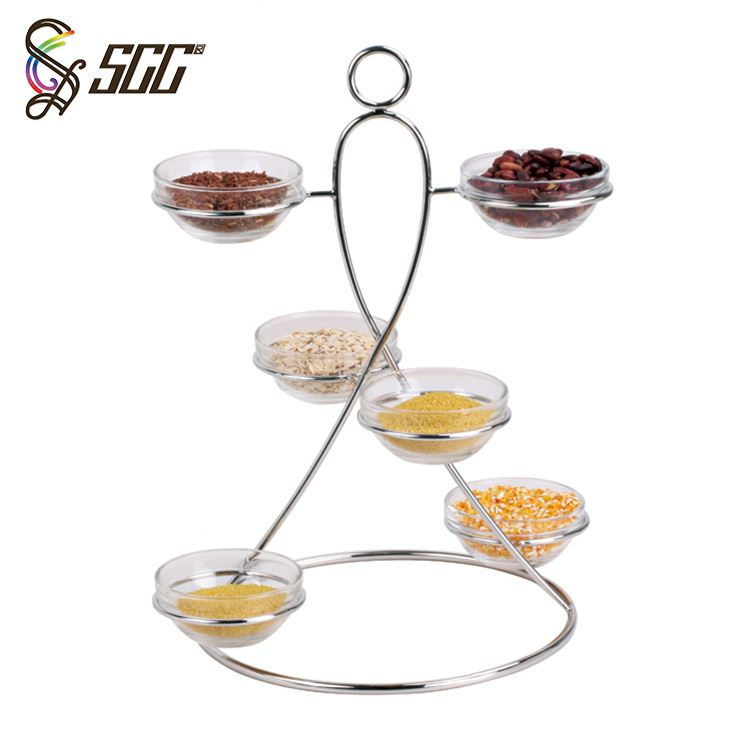 Hot sale custom made stainless steel snack stand stainless steel wedding cake stand